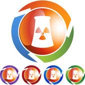 Nuclear Powerplant web button — Wektor stockowy