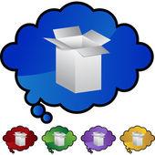 Shipping Box web icon — Stock Vector