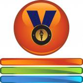 Gold Medal  web icon — Stock Vector