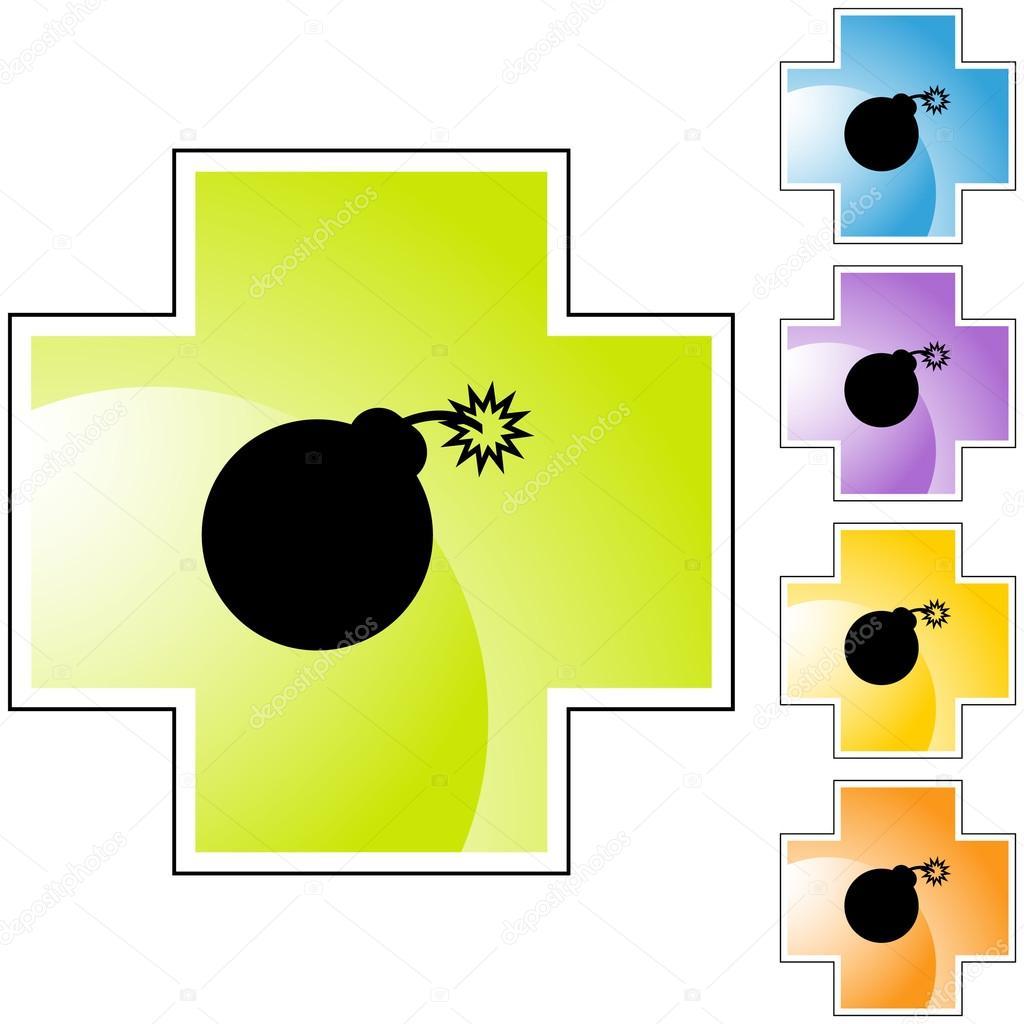 Bomb Icon Vector Bomb Icon Button — Vector by