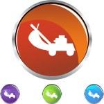 Çim biçme makinesi web simgesi — Stok Vektör #64150035