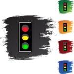 Traffic Light web button — Stock Vector #64150399