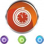Clock web button — Stock Vector #64150481