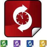 Arrow clock web button — Stock Vector #64152951