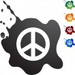 Peace sign web button — Stock vektor #64153749