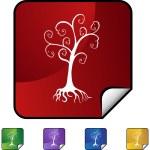 Family Tree button — Stock Vector #64156759