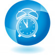 Alarm clock Transparent Blue Icon — Stock Vector #64158215