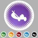 Çim biçme makinesi web simgesi — Stok Vektör #64159781