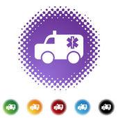 Paramedics web icon — Vector de stock