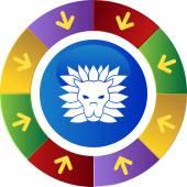 Leo web button — Stock Vector