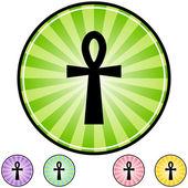 Egyptian cross icon. — Stockvektor