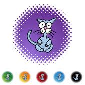 Страшно значок web Cat — Cтоковый вектор