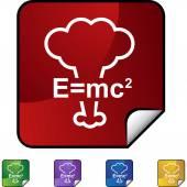 Energy Equation web button — Stock Vector