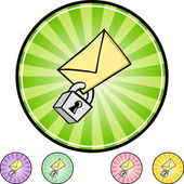 Secure Email icon button — Stock Vector