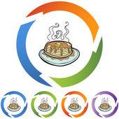 Pancake web button — Stock Vector