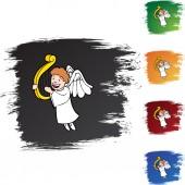 Boy Angel web icon — Stock Vector