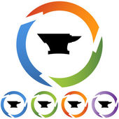 Anvil icon button set — Stock Vector
