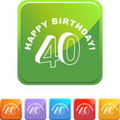 Happy Birthday Forty — Stock Vector