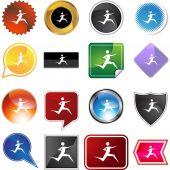 Runner Icon set — Stockvector