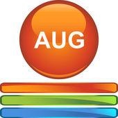August web button — Vetor de Stock