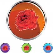 Rose web icon — Stock Vector