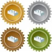 Floorplan web button — Stock Vector