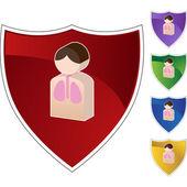 Lung Patient web icon — Vector de stock