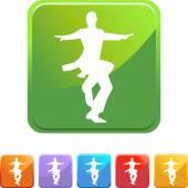Dancer web button — Wektor stockowy