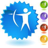 Archery Sport  web icon — Stockvector