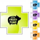 Trust Fund web icon — Vector de stock