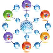 Business Chart web icon — Cтоковый вектор