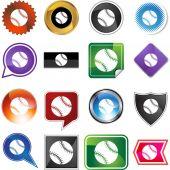Baseball Web button set — Stockvektor