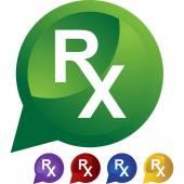 Prescription Symbol icon button — Stock Vector