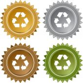 Recycling symbol web button — Stockvector