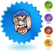 Angry Man web icon — Stock Vector