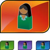 Business Woman web icon — Vettoriale Stock