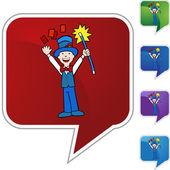 Card Trick web icon — Stok Vektör