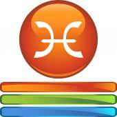 Símbolo del zodiaco piscis — Vector de stock