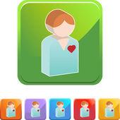 Heart Patient web icon — Vecteur