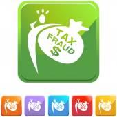 Tax Fraud web icon — Stok Vektör