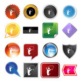Jumping Rope Variety Icon Set — Stock Vector