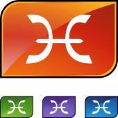 Pisces Zodiac Symbol — Stock Vector
