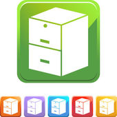 Filing Cabinet web button — Stock Vector