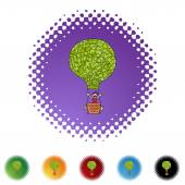 Money Balloon web icon — Stock Vector