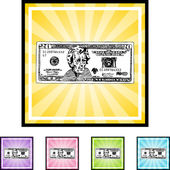 Twenty Dollar Bill — Stock Vector