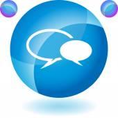 Conversation icon set — Stockvektor