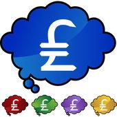 Pounds Money Sign  web button — Stock Vector