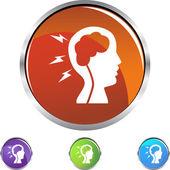 Stroke icon button — Stock Vector