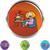 Child  and Fast Food — Stock Vector