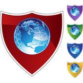 Earth globe web icon — Stock Vector